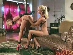 Busty blondes spanking