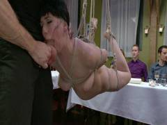 Public Disgrace: Nerine Mechanique Served Up And Nailed At A Dinner Soiree