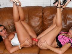 Cassidey and Charley Chase lesbian fucking