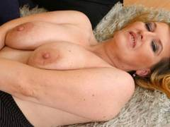Blonde bombshell gets hot for young cock