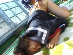 Chubby Misa Kashigawi stuffed outdoors