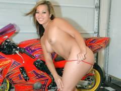 Brunette Asian Stripping