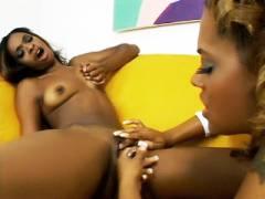 Black Pussy Gets Finger Banged