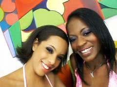 Sexy Ebonies Lesbian Tease