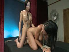 TS Pussy Hunters: Mia Isabella As You Have Never Seen Her Before Pluging A Hot Girl