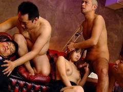 Slutty Rui Natsukawa in a group sex session