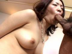 Horny hairy snatch Japanese banged hard!