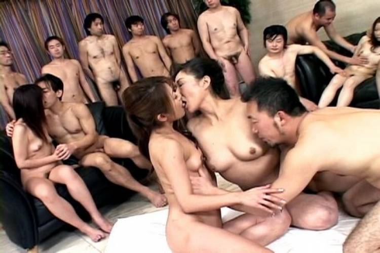 Asian group sex movie